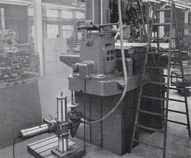 Oerlikon UB2 drilling the base of one of the company's large radial drills